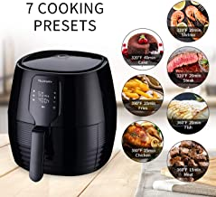 KOOLWOOM Air Fryer XL, 5.8 Quart Capacity Temperature Control,Oil Free 1400W For Healthy Fried Food, with 6-PC Accessory Set + 50 Recipes (Touch)