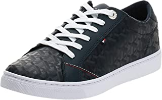 Tommy Hilfiger TOMMY JACQUARD LEATHER SNEAKER womens Sneakers