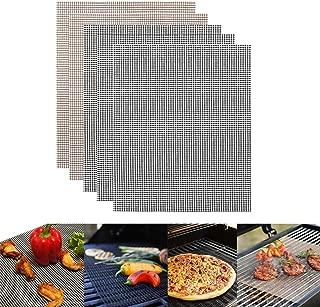 バーベキューマット Herimo BBQ網 焼き網 テフロングリルネット 焦げ付き防止 40x33cm 超耐熱 BBQグリルシート 再利用可能 料理用 ベーキング用 焙煎メッシュマット クッキングシート 格子マット 5個セット