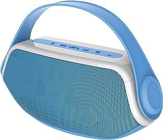 Sylvania SP233-Blue Wireless Bluetooth Portable Boombox, Blue