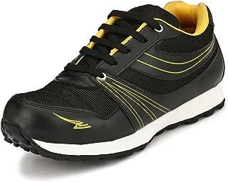 Sir Corbett Men's Black Synthetic Jogging Shoes(Big