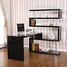 Best rotating office desk and shelf combo Reviews