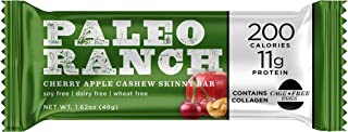 PALEO RANCH Protein Skinny Bar, Cage-Free Egg White Protein, Grass-Fed Beef Collagen, Gluten Free, Soy Free, 1.62 Ounce, C...