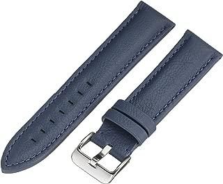 Hadley-Roma MS2044RF 220 22mm Leather Calfskin Blue Watch Strap