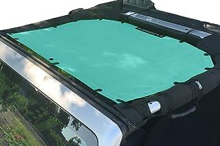 ALIEN SUNSHADE Jeep Wrangler JK or JKU (2007-2018) Front Sun Shade Mesh Top Cover (Gift Blue) – 10 Year Warranty – Blocks UV, Wind, Noise