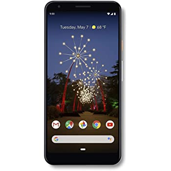 Google - Pixel 3a XL with 64GB Memory Cell Phone (Unlocked) - Clearly White