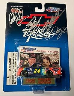 1995 Dale Earnhardt Sr & Jr & Jeff Gordon & Stewart Quad Signed 1/64 Diecast Car - Autographed Diecast Cars