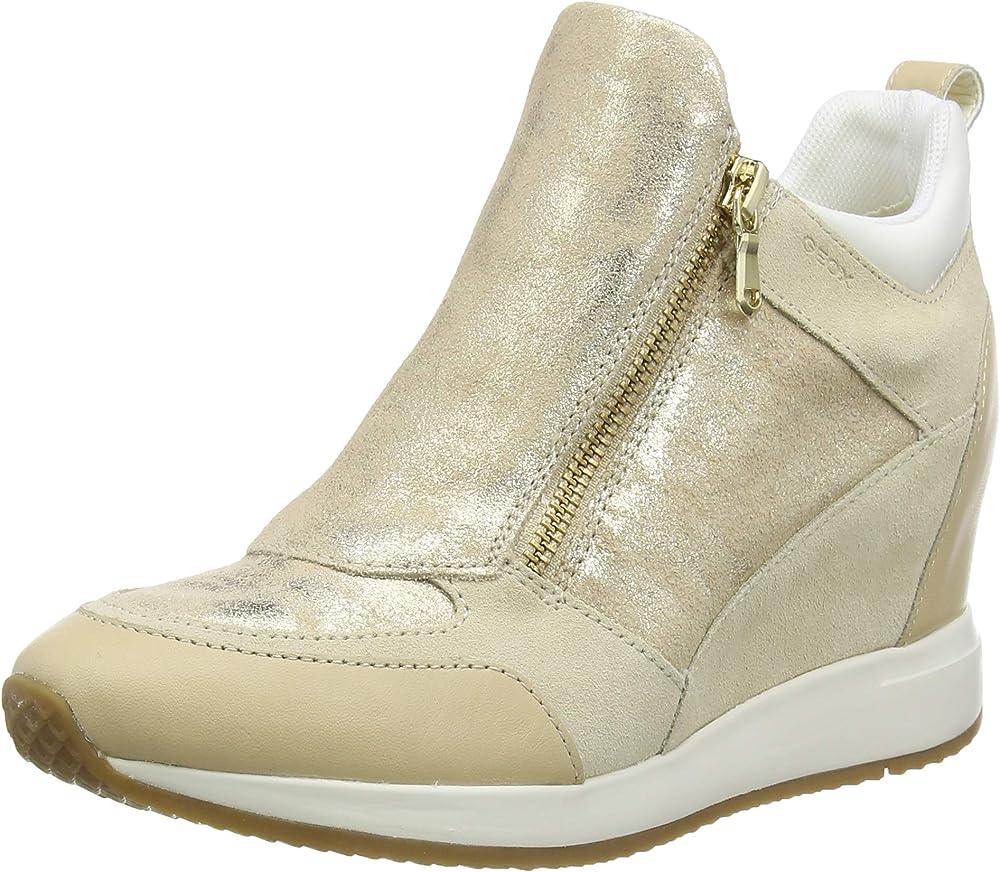 Geox d nydame e, scarpe sneakers da ginnastica basse donna in pelle D020QE07722
