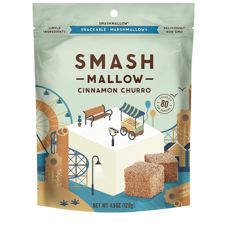 Cinnamon Churro Ranking TOP10 by SMASHMALLOW Non-GM Snackable Max 57% OFF Marshmallows