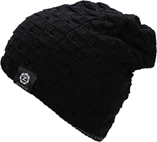 zenco Men/Women's Winter Handcraft Knit Dual-Layered Slouchy Beanie Hat