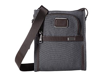 Tumi Alpha 3 Pocket Bag Small (Anthracite) Handbags