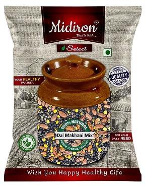 Midiron Dal Makhani Mix Ready to Cook, (Whole Urad, Rajma, Whole Masoor, Chana Dal) (1 kg)