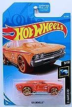 Hot Wheels 2019 Basic Mainline Treasure Hunt X-Raycers - '69 Chevelle (Orange) - International Card