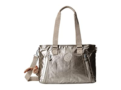 Kipling Angela Medium Shoulder Bag (Metallic Pewter) Shoulder Handbags
