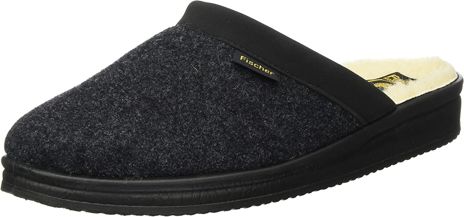 Fischer Max 81% OFF Men's Open Back Slippers 205 Black Anthracite 11.5 Max 51% OFF
