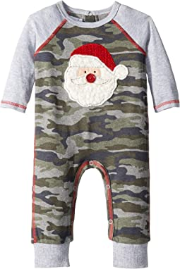 Christmas Camo Santa Long Sleeve One-Piece Playwear (Infant)