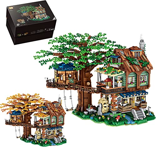 discount Tree House Building Sets, DIY Building Block Creative Construction Play 2021 Set,Tree House Bricks 2021 Model Set,Present Gift for Teens Boys Girls/Adults Ages 14+(4761Pcs) sale