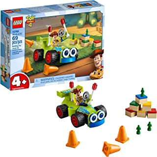 LEGO | Disney Pixar's Toy Story 4 Woody & RC 10766 Building Kit (69 Pieces)