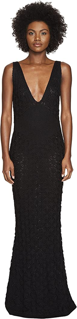 Dandelion Lace Knit Sleeveless Maxi Dress