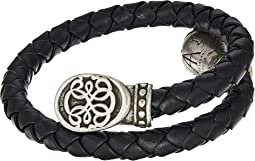 Path of Life Braided Leather Wrap Bracelet