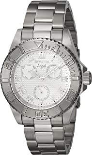 Invicta Women's Angel Quartz Watch with Stainless-Steel Strap, Silver, 20 (Model: 17523)