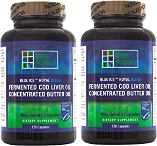 Blue Ice Royal Butter Oil / Fermented Cod Liver Oil Blend (240 Capsules)