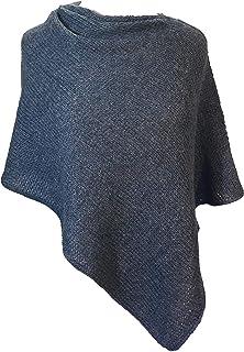 Sponsored Ad - Women's Alpaca Poncho Shawl Sweater - Hand Knit in Peru - Dressy Fashion Wrap with Alpaca Wool Blend