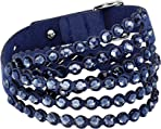 Swarovski Women's Power Bracelet, Brilliant Crystals with a Gorgeous Fabric Band, from the Swarovski Power Collection