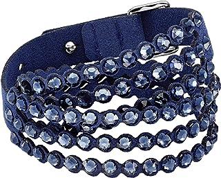 SWAROVSKI Women's Leather Look Crystal Power Bracelet Collection