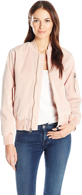 Hudson Jeans Womens Gene Puffy Bomber Jacket Jacket