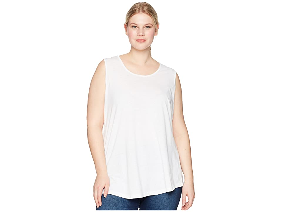 Aventura Clothing Plus Size Dharma Tank Top (White) Women