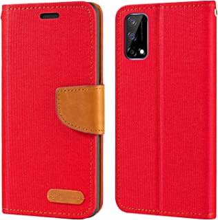 Oppo Realme Narzo 30 Pro 5G Case, Oxford Leather Wallet Case with Soft TPU Back Cover Magnet Flip Case for Oppo Realme Nar...