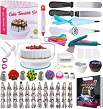 Cake Decorating Supplies Kit 2020 Newest 206 PCS Baking Set for Beginners With Cake Turntable Stand Rotating Turntable,Rus...