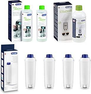 De'Longhi 5513284241 Coffee Care Kit Espresso Machine Maintenance Bundle (Descaler, Water Filters & Milk Residue Remover)