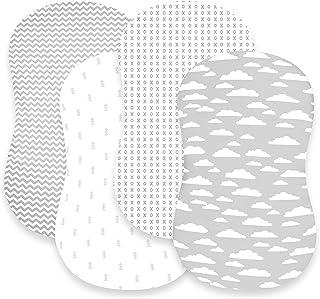 "Bassinet Sheet Set | Cradle Fitted Sheets for Bassinet Mattress/Pads | Super Soft Jersey Knit Cotton | 3 Pack | 150 GSM |""..."