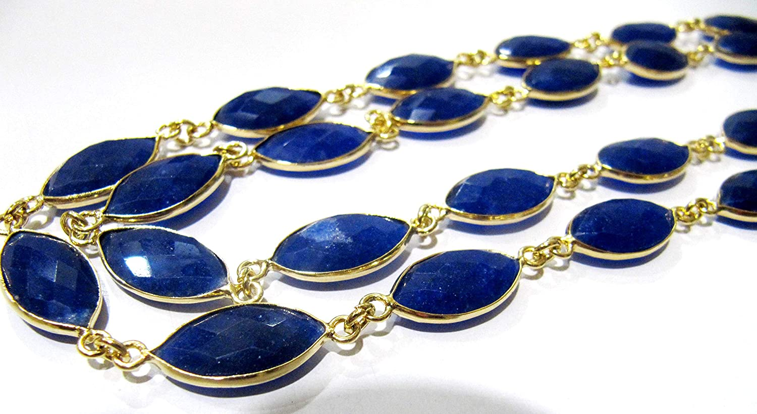 Blue Sapphire Marquise 5 popular Shape Briolette Bezel 9x15 mm C New Orleans Mall Connector
