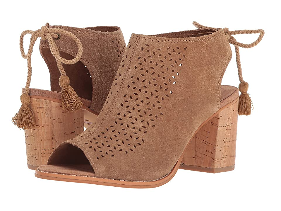 TOMS Elba (Toffee Suede/Mosaic Tile) High Heels