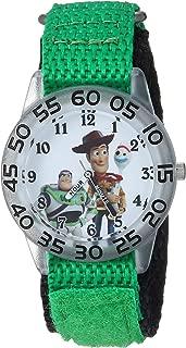 Disney Boys Toy Story 4 Analog-Quartz Watch with Nylon Strap, Green, 20 (Model: WDS000706)