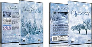 Christmas 2 DVD - Snowfall and Falling Snow & Winter Wonderland DVD Collection - Beautiful Nature Winter Scenery for the Holidays