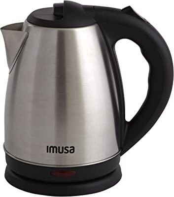IMUSA USA GAU-18220 1.7 Liter Cordless Stainless Steel Electric Tea Kettle with Easy To Serve Pouring Spout