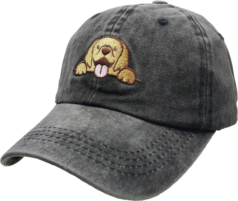 San Antonio Mall Women's Max 47% OFF Embroidered Baseball Cap Golden Mom Retriever Dog Vintag