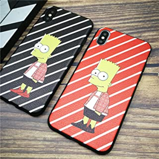 Supremely Cartoon Boy Case Bart Simpson iPhone Case for iPhone X XS MAX XR 10 8 7 6 6S Plus (Black, for iPhone Xr)