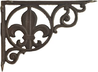 "Import Wholesales Wall Shelf Bracket Brace Fleur De Lis Pattern Cast Iron 8.625"""