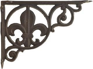 Import Wholesales Wall Shelf Bracket Brace Fleur De Lis Pattern Cast Iron 8.625