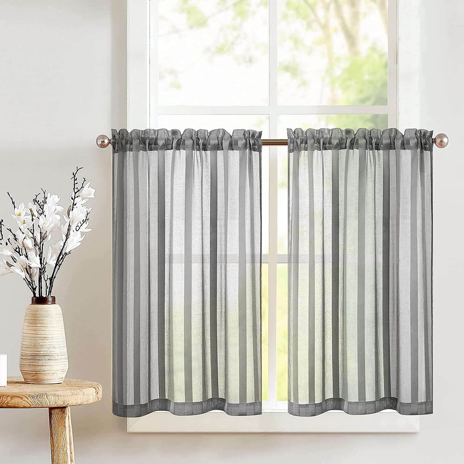 JINCHAN Super Discount mail order Special SALE held Kitchen Curtains 36 Bat Long Inches for