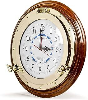 wooden tide clock