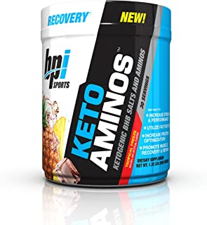 BPI Sports -Keto Aminos Ketogenic BHB Salts and Aminos, Tropical Freeze, 30 Servings