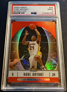 2006 KOBE BRYANT FINEST REFRACTOR #25 PSA 9 LAKERS POP 3 (921)