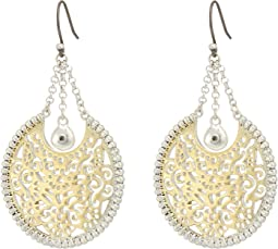 Lucky Brand - Openwork Circle Statement Earrings