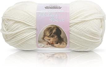 "Mary Maxim Baby's Best Yarn ""Ecru""   2 Fine DK/Sport Weight Baby Yarn for Knit & Crochet Projects   70% Acrylic and 30% Nylon   4 Ply - 171 Yards"